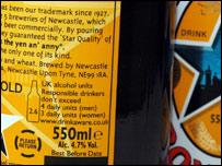 Brown ale label