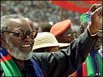 Sam Nujoma, Namibia's outgoing president