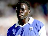 Patrick Agyemang in action for Gillingham
