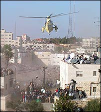 Helicopter over Ramallah