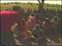 Women gathered in Darfur