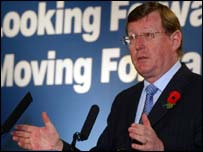 David Trimble at the UUP conference