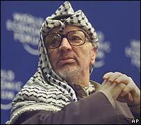 Yasser Arafat en el Foro Económico Mundial en 2000, donde todavía hubo discusiones con Israel.