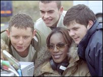 Amma Asante and members of the cast of A Way of Life