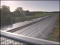 An empty stretch of the M25