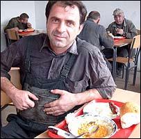 Albanian worker Shemsi Krasnici