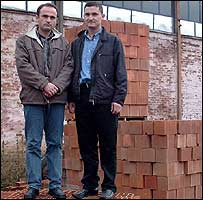 The Borovoci brothers who run the brick factory