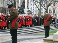 Remembrance Sunday at Belfast City Hall