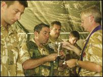 UK troops at Camp Dogwood