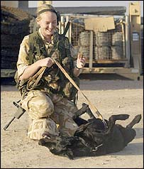 L/Cpl Jenny Chester and Bonnie the dog
