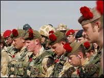 Black Watch troops