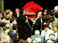 Funeral of judge Giovanni Falcone