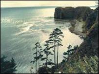 Пейзаж Курильских островов