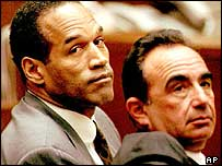 OJ Simpson during his 1995 trial