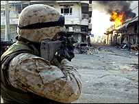 US marine in Falluja