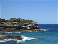 Cliffs near Bondi beach