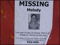 Missing poster for Melody O'Gara