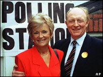 Former Labour leader Neil Kinnock with wife Glenys