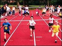 Image of children doing sport