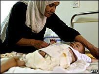 Boy injured during the Falluja fighting