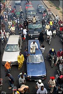 Nigerians protest in Lagos against fuel price rises