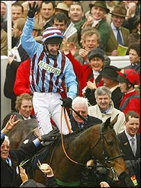 Best Mate and Jim Culloty after their third Cheltenham Gold Cup success