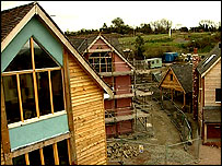 Houses being built as part of the Wintles development