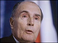 The late French President Francois Mitterrand
