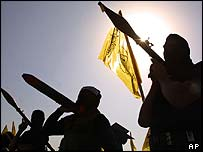 Young gunmen of the al-Aqsa Martyrs' Brigade