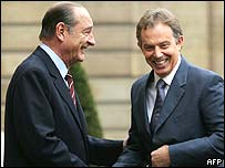 Jacques Chirac and Tony Blair
