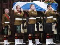 Coffin, funeral Scott McArdle