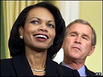 Condoleezza Rice and President George Bush