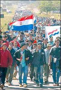 Protestas campesinas (Foto gentileza: Última Hora)