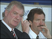 Lawrie McMenemy (left) and Graeme Souness