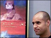 Saif al-Islam Gaddafi, the son of Libya's leader Muammar Gaddafi