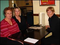 Sandra Perkins, Suzanne Lethbridge and Helen Harvey