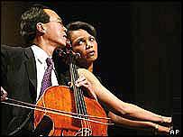 Condoleezza Rice (derecha) y Yo Yo Ma