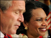 President Bush and Condoleezza Rice