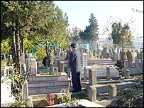 Jonny was monitored as he visited a cemetery in Diyarbakir