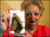 A piece of cheese on toast purportedly showing the Virgin Mary