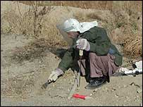 Mine clearance in Afghanistan