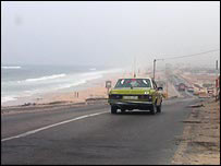 Gaza's coast road