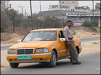 Taxi driver Ahmed near Nuseirat camp