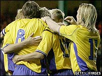 Sweden were celebrating at Easter Road