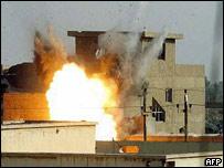 A blast in Falluja
