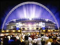 An impression of the new Wembley Stadium