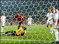 England were in disarray when Spain scored