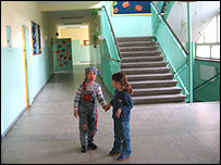 School children in Weickowice, BBC