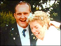 Maureen and Andy Mitchell on their wedding day