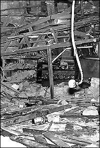 The destruction inside the Mulberry Bush